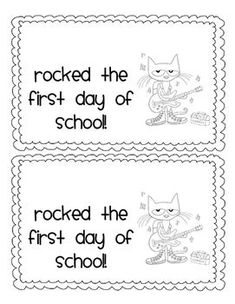 PETE THE CAT FIRST DAY CERTIFICATES & GIFT TAGS