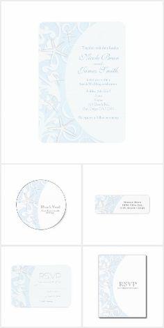 White Starfish Blue Elegant Beach Wedding Suite