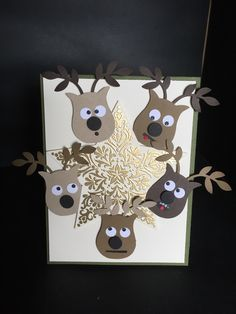 Stampin' Up! owl punch reindeer