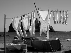 Laundry Day on Ischia Island! Photo by Peter Bardwell.