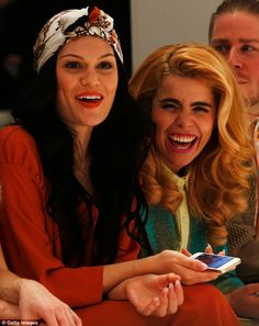 As with most Westwood shows, seats were taken up by quirkier dressed stars such as Jessie J and Paloma Faith who were seen giggling together on the front row. Jessi J, Paloma Faith, High Society, Celebs, Celebrities, Girl Power, My Idol, My Hair, Hair Styles