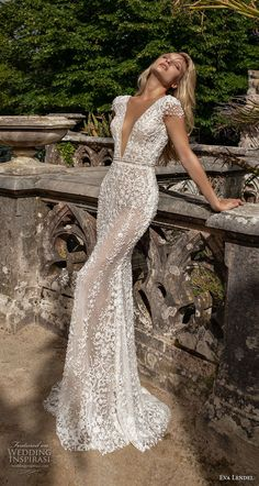 wedding dress 2020 eva lendel 2020 lisbon vibes bridal cap sleeves deep v neck full embellishment romantic fit and flare wedding dress backless v back chapel train mv -- Eva Lendel 2020 Wedding Dresses Wedding Dresses Near Me, Making A Wedding Dress, Stunning Wedding Dresses, Wedding Dress Sizes, Princess Wedding Dresses, V Neck Fit And Flare Wedding Dress, Cinderella Wedding, Dress Wedding, Bridal Dress Shops