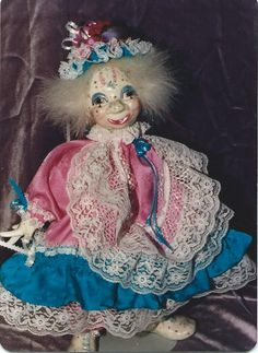 'Dreams Unlimited', porcelain dolls.  This is Wonderful Wanda one of our creations in porcelain. Totally original...  Cookie :)