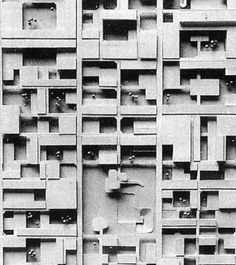 Love you so mat:  Candilis, Josic, Woods, Schiedhelm. Berlin Free University, 1963. Scale model of competition (detail).