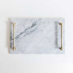 Marble and brass Admiral's Tray by Katy Skelton. Elegant Christmas gift idea.