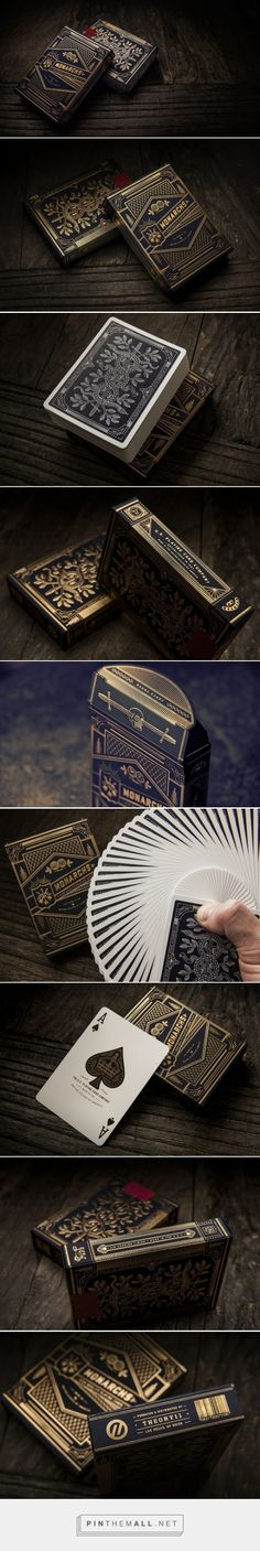 Monarch #PlayingCards by theory11​ - http://www.packagingoftheworld.com/2015/06/monarch-playing-cards.html