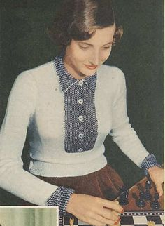 Off-the-Shoulder Tops and Swing Coats: a Selection of Knitting Patterns from 1950-1959