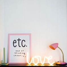'Love is in the air' with this super trendy neon style light! This LED-light is an energy efficient and durable version of the popular neon light. It is made of plastic and can therefore be used safely in kids rooms. The light opera Love Is In The Air, Love And Light, Neon Lighting, Lighting Design, Neon Sign Bedroom, A Little Lovely Company, Neon Lamp, Lumiere Led, Led Licht