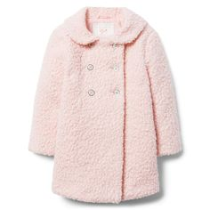 df5d2e46d5c62  89 Girl Blush Bouclé Sherpa Coat by Janie and Jack Janie And Jack