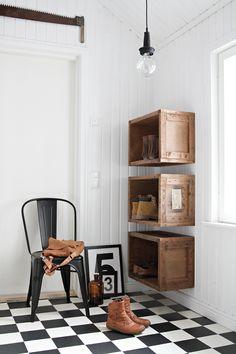 opbergen - hal - storage - DIY