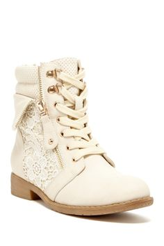 Samantha Crochet Lace-Up Boot on HauteLook
