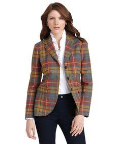 Shetland Wool Three-Button Jacket    $159.20