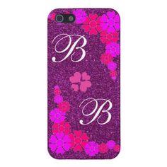 #Monogram, #Purple, #Hippie #Flowers #iPhone 5/5S #Case