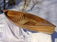 The Pere Marquette, cedar strip solo canoe