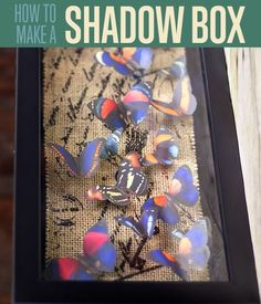 Do you want to make a beautiful butterfly shadow box? Check out how to make this fabulous DIY project with some hot glue and our featured print outs!