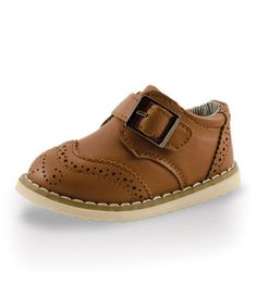 Loving this Twinkie Brown Buckle Adorable Baby Loafer on #zulily! #zulilyfinds
