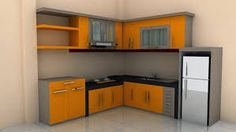 Would you like to update your kitchen area, but without upgrading all things in it? By merely redecorating the kitchen, you can give the complete area a fresh look. Kitchen Room Design, Kitchen Sets, Minimalist Kitchen, Home Kitchens, Kitchen Cabinets, Indoor, Furniture, Home Decor, Fresh