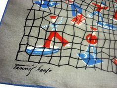 Vintage Collectible Tammis Keefe Nautical Linen by VintagePickle, $45.00