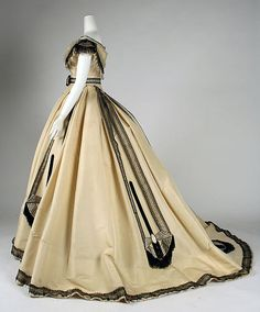 Ball gown Designer: Emile Pingat (French, active 1860–96) Date: ca. 1864 Culture: French Medium: silk