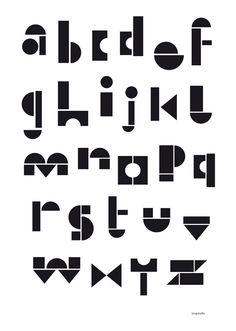 alphabet poster by Elisabeth Dunker of Fine Little Day