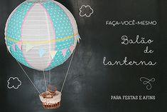 balão feito com lanterna japonesa