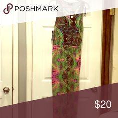 Multicolored jumpsuit Green/Pink/Black Jumpsuit w/zipper front from ASOS. AX Paris Pants Jumpsuits & Rompers