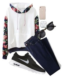 """Untitled #83"" by supervxlerie on Polyvore featuring Lands' End, NIKE and H&M"