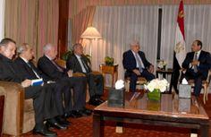 الرئيس عباس يلتقي نظيره المصري