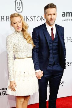 ryanreynoldssource:  Blake Lively and Ryan Reynolds attend 2016 amfAR New York Gala at Cipriani Wall Street on February 10, 2016 in New York City.