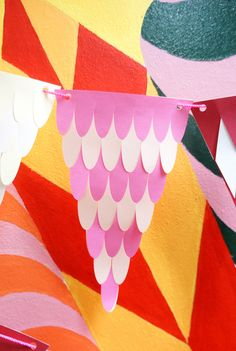 PDF templates for woven paper flags, three designs