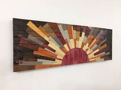 Wood wall art  EDGE of THE DAY  wooden wall art
