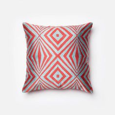 """Loloi Pillow - 18""""x18"""" Coral/Teal 