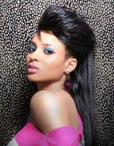 Ciara half up half down Hairstyle
