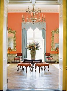 I love the greenbrier! The Greenbrier Resort (photo: Cooper Carras for Matchbook Feb. Antique Interior, Living Spaces, Living Room, Interior Decorating, Interior Design, Modern Interior, Interior Exterior, Cool Rooms, Beautiful Interiors
