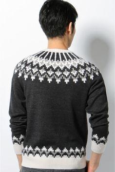 求心 ジャガード - Google 検索 Nordic Sweater, Men Sweater, Knitting Designs, Knitting Patterns, Icelandic Sweaters, Color Patterns, Christmas Sweaters, Knitwear, Design Inspiration