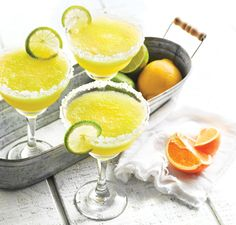 Whole Fruit Margarita. Ingredients    1/4 cup (60 ml) water  6 ounces (180 ml) tequila  2 ounces (60 ml) Grand Marnier or Triple Sec  1 orange, peeled, halved  1 lime, peeled, halved  1 lemon, peeled, halved, seeded  6 tablespoons (75 g) granulated sugar  6 cups (1.4 l) ice cubes