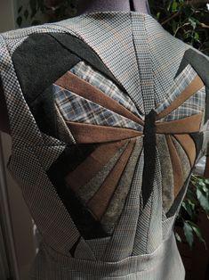 Тривиальные возможности нетривиального пэчворка или Просто бабочки. Жилет / Фотофорум / Burdastyle