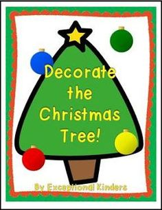 """FREE MATH LESSON - """"Decorate the Christmas Tree! A Christmas Math Game Freebie"""" - Go to The Best of Teacher Entrepreneurs for this and hundreds of free lessons. Pre-Kindergarten - 1st Grade #FreeLesson  #Math  #Christmas  http://www.thebestofteacherentrepreneurs.net/2015/11/free-math-lesson-decorate-christmas.html"""