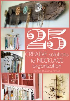 End the tangles with these 25 Creative Solutions to Necklace Organization via thinkingcloset.com