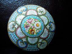 Grosse Millefiori Brosche 1880-1910   eBay