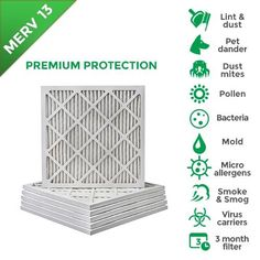 Tier1 16x24x1 Merv 8 Pleated Dust /& Pollen AC Furnace Air Filter 6 Pack