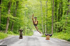 'Dancers Among Us' features surprising, whimsical images of dancers gracefully acting out daily activities.