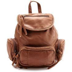 Mini Multi Pocket Backpack ($29) ❤ liked on Polyvore