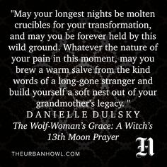 The Wolf-Woman's Grace: A Witch's 13th Moon Prayer