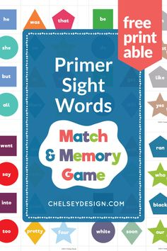 This Sight Words Game was meant to make learning at home both fun! This multi-page .pdf game is full of SIGHT WORDS and so easy to print and do at home. Sight Word Games, Sight Words, Memory Games, Free Prints, 4 Kids, Social Studies, Homeschooling, Classroom Ideas, Free Printables