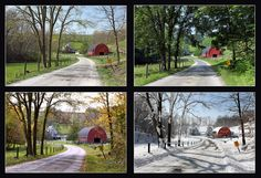 Amish Farm in all four seasons ~ Sarah's Country Kitchen ~