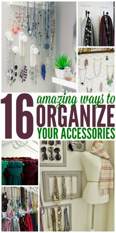 Loving all of these accessory organization ideas! They are not only extremely clever but also super cute! - One Crazy House