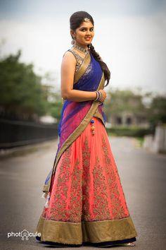 . Lehanga Saree, Half Saree Lehenga, Sarees, Lahenga, Sharara, Anarkali, Bridal Lehenga 2017, Saree Wedding, Wedding Blouses