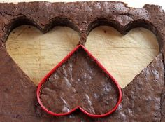 Perfect and adorable! Heart Shaped Brownies!
