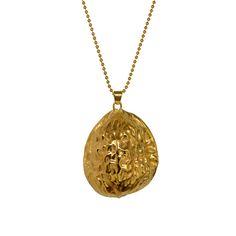 Carolina Curado Half Walnut Necklace www.carolinacurad...